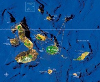 Galapagos Kreuzfahrtroute Athala II