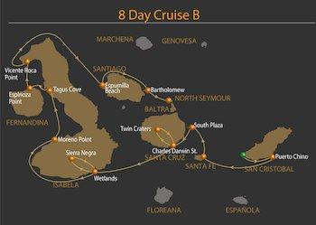 Galapagos Kreuzfahrt Route B - Galven