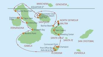 Westroute Galapagos Kreuzfahrt Yacht Reina Silvia