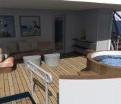 Galapagos Kreuzfahrtyacht Origin - Sonnendeck