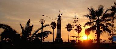 Sonnenuntergang in Lima
