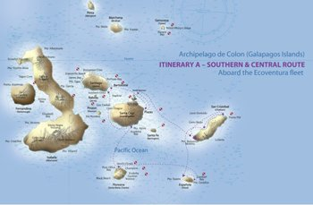 Kreuzfahrtroute A - Galapagos Kreuzfahrt Yachten Eric & Letty