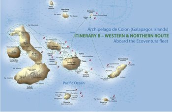 Kreuzfahrtroute B - Galapagos Kreuzfahrt Yachten Eric & Letty