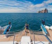 Tip Top II Galapagos Kreuzfahrt Katamaran - Schiffsheck