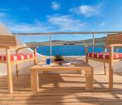 Tip Top II Galapagos Kreuzfahrt Katamaran - Sonnendeck
