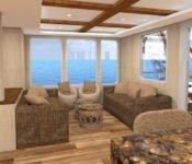 Galapagos Kreuzfahrtyacht Origin - Lounge