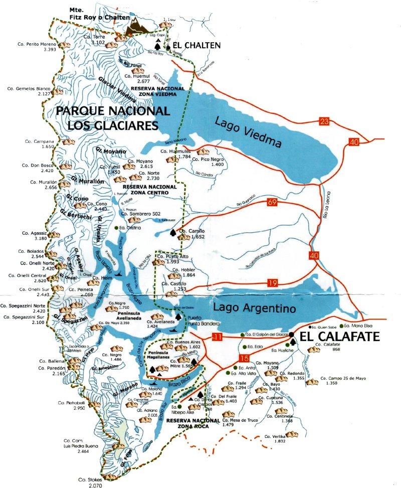 Patagonien Highlights Karte.Höhepunkte Patagoniens Atemberaubende Patagonien Reisen