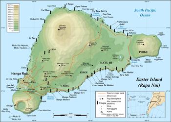 Karte Osterinsel Reisen