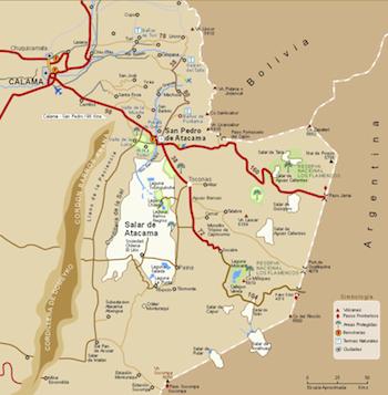 Karte San Pedro de Atacama