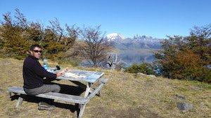 Laguna Azul - Mietwagenreise Patagonien