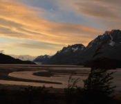 Torres del Paine - Sonnenaufgang Lago Grey