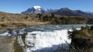 Wasserfall Rio Paine - Mietwagenreise Patagonien