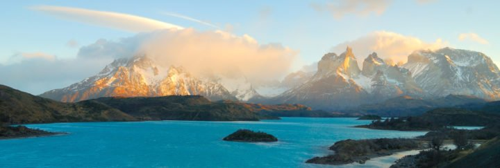 Chile Reisen - Cuernos del Paine bei Sonnenuntergang im Torres del Paine