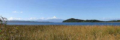 Llanquihue See mit Vulkan Osorno