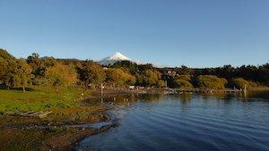 Pucon mit Villarrica Vulkan