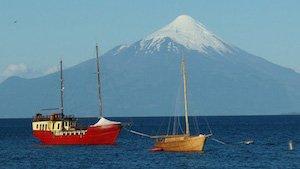 Vulkan Osorno am Llanquihue See