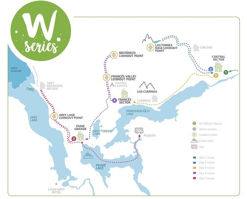 Karte W-Trek
