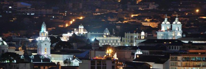 Ecuadorreise - Quito bei Nacht