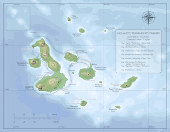 Cachalote Fernandina Itinerary