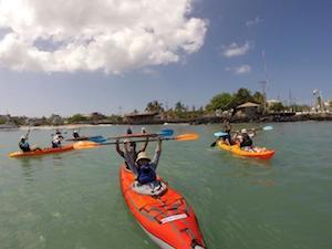Rollstuhlfahrer Kayaking Galapagos