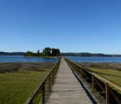 Holzbrücke nach Aucar