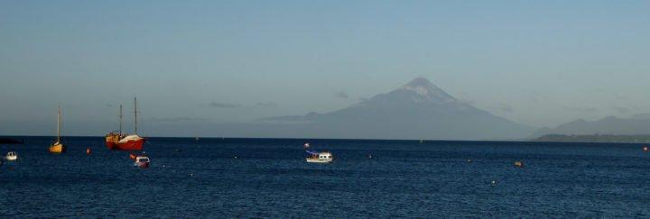 Vulkan Osorno von Puerto Varas aus