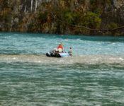 Fischer auf dem Rio Baker