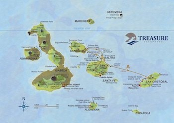 Route A Treasure of Galapagos Map
