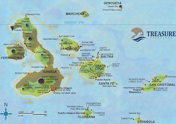Route C Treasure of Galapagos Map