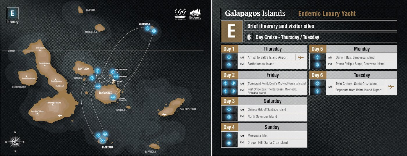 Endemic - Galapagos Route E