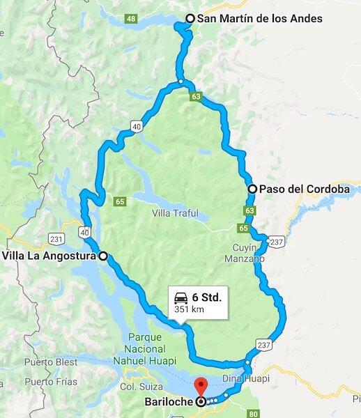 Route San Martin de los Andes