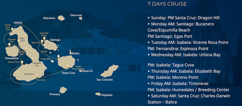 Bonita Route A Galapagos kreuzfahrt